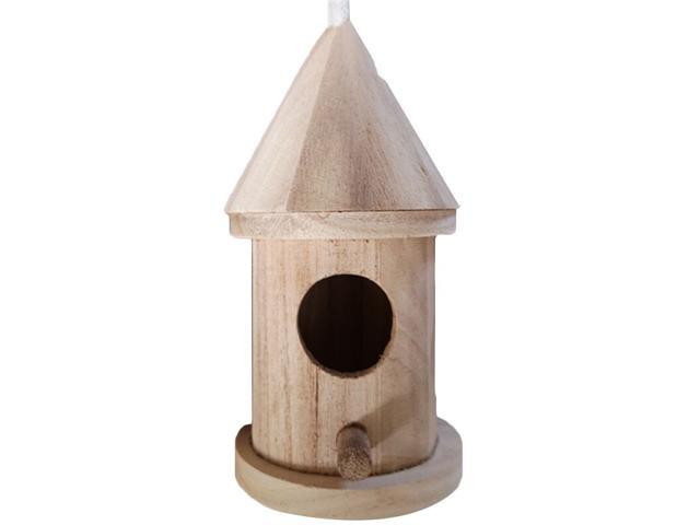 Wooden Bird House Nest Handmade Eco-friendly Bird Nest Cage Outdoor Birdhouse Garden Yard Hanging Decoration Crafts (Hardware Tools) photo