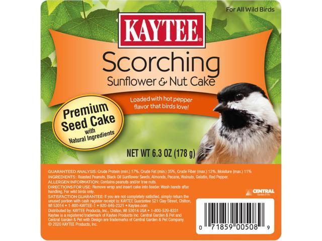 Kaytee Scorching Songbird Wild Bird Seed and Nut Cake Roasted Peanuts 6.3 oz. - Case Of: 12; (071859005089 Home & Garden Lawn & Garden Outdoor Living) photo