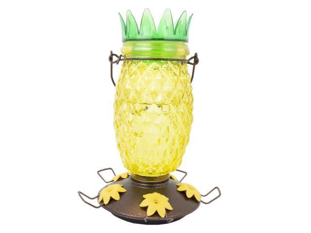 Perky-Pet Wild Bird 3.5 lb. Glass/Metal Top Fill Pineapple Bird Feeder 3 ports - Case Of: 2; (078978602014 Home & Garden Lawn & Garden Outdoor Living) photo