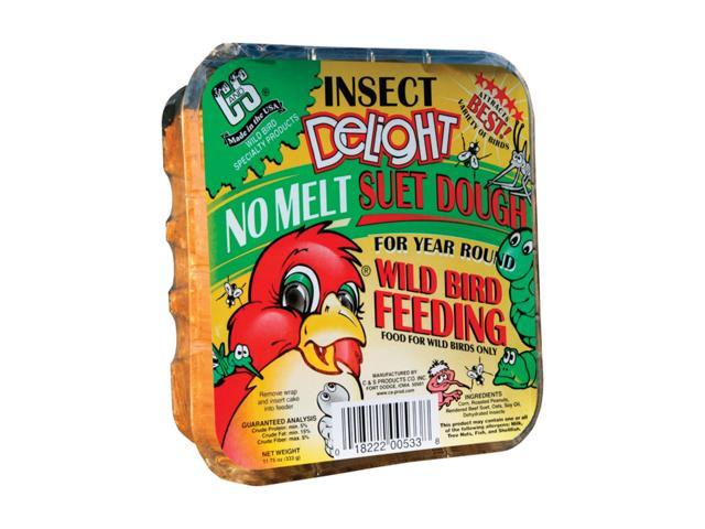 C & S Products Insect Delight Assorted Species Wild Bird Food Beef Suet 11.75 oz. - Case Of: 12; (018222005338 Home & Garden Lawn & Garden Outdoor Living) photo