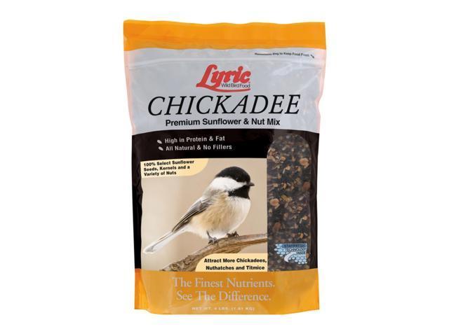 Lyric Chickadee Wild Bird Food Sunflower Seeds and Peanuts 4 lb. - Case Of: 1; (088685190636 Home & Garden Lawn & Garden Outdoor Living) photo