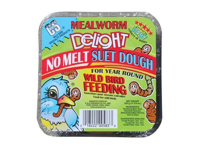 C & S Products Mealworm Delight Assorted Species Wild Bird Food Beef Suet 11.75 oz. - Case Of: 12; (018222005833 Home & Garden Lawn & Garden Outdoor Living) photo
