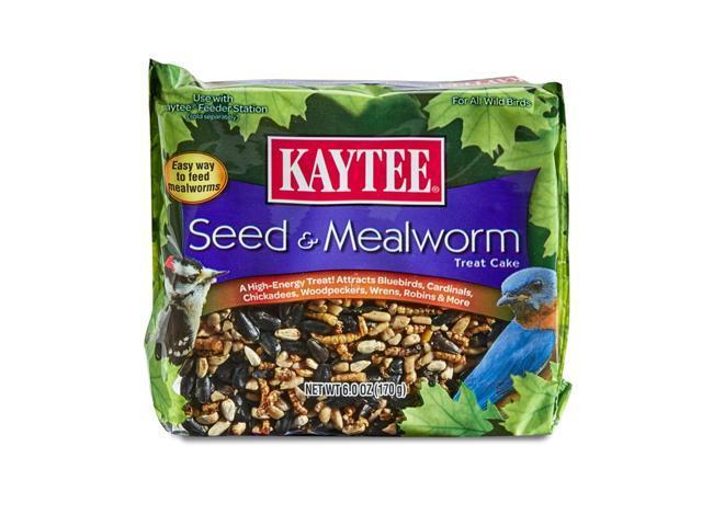 Kaytee Seed & Mealworm Songbird Wild Bird Seed Cake Hulled Sunflower Seed 6 oz. - Case Of: 6; (Home & Garden Lawn & Garden Outdoor Living) photo