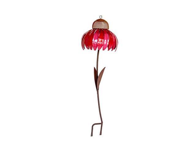 Sensation Cornflower Metal Flower Bird Feeder Hummingbird Feeder for Outdoors Premium Standing Bird Feeder Garden Art Pole Stand Rust Resistant. (Home & Garden Household Supplies) photo