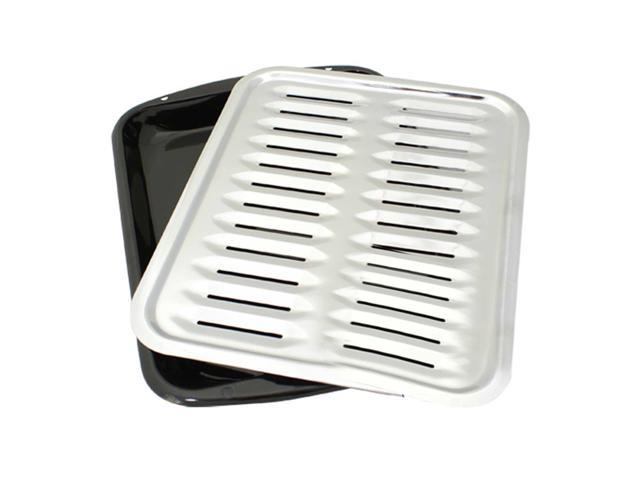 2-Piece Heavy Duty Porcelain and Chrome Plated Full Size Broiler Pan Range Kleen photo
