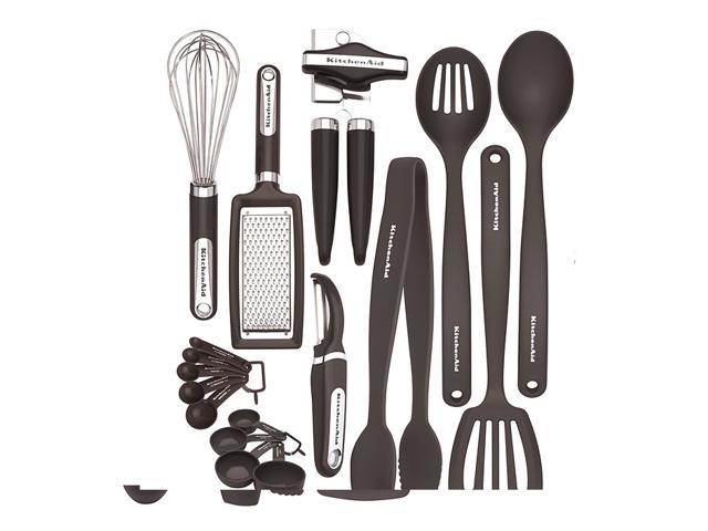 KitchenAid Black 17-piece Kitchen Tool and Gadget Set photo