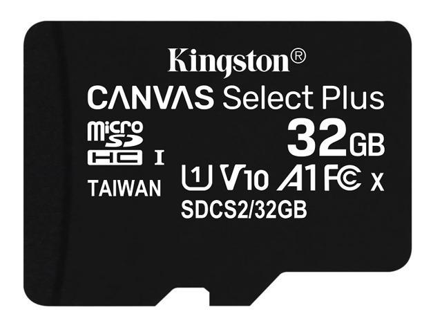 Kingston Canvas Select Plus 32GB Flash Memory Card and Adapter SDCS2/32GB