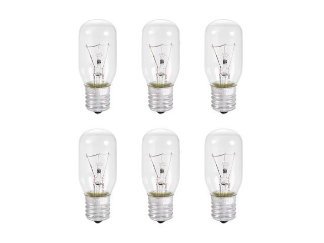 6pcs T25 E17 Microwave Replacement Bulbs for Most Ge Ovens Replaces Part Fits Intermediate E17 Base - 40 W / AC 110v-130v Yellow Warm Light photo