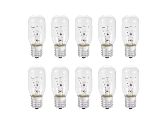 10pcs T25 E17 Microwave Replacement Bulbs for Most Ge Ovens Replaces Part Fits Intermediate E17 Base - 40W / AC 110v-130v Yellow Warm Light photo