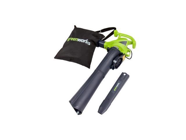 Greenworks 12 Amp 230 MPH 2-Speed Corded Blower/ Vacuum, Green 24022 (841821003029 Home & Garden Lawn & Garden Leaf Blowers) photo