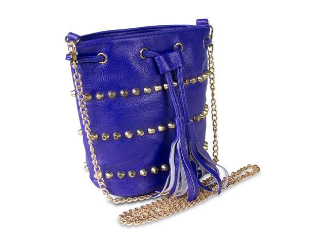 Mad Style Studded Drawstring Crossbody Bag Blue Purse Fashion Style Evening (078355331407 Electronics) photo