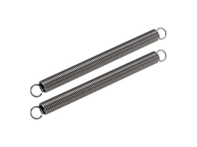 Compression Spring,16mm OD,2mm Wire Size,244mm Extended Length,200mm Free Length, Spring Steel,33Lbs Load Capacity, Grey 2pcs photo
