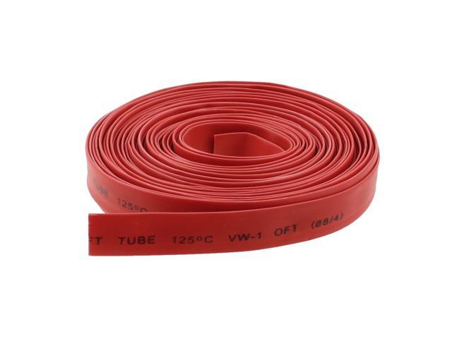 10M 8mm Dia. Heat Shrinking Shrinkable Tube Tubing Red