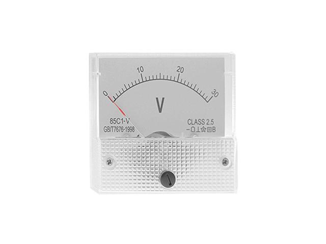 Unique Bargains White Hard Plastic DC 0-30 Voltmeter Panel Meter New photo