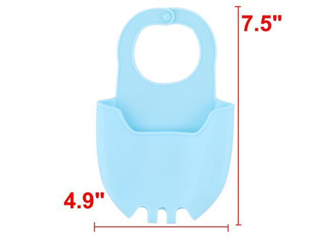 Home Kitchen Silicone Sponge Washing Cleaning Tool Holder Basket Drainer Blue photo