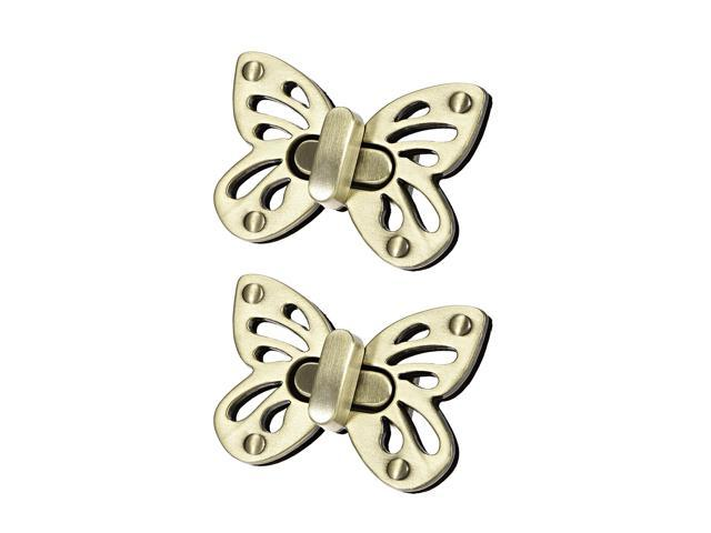 2 Sets Butterfly Purses Twist Lock Clutches Closures for DIY Bag Making - Brussed Brass (041814162676 Hardware,hardware Hardware Accessories) photo