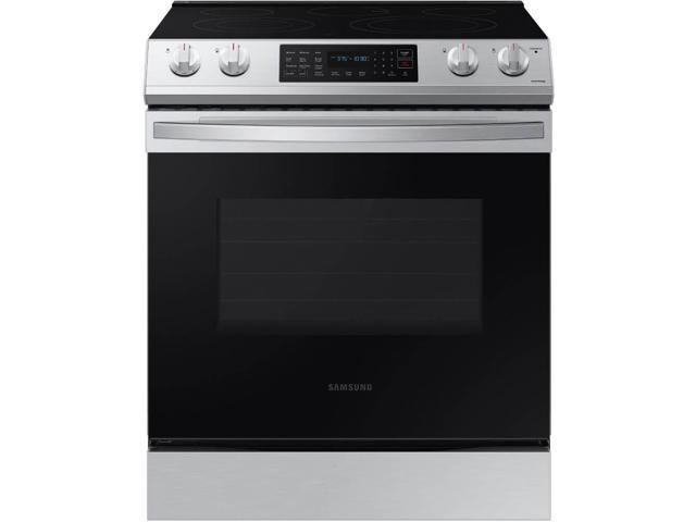 Samsung NE63T8311SS 6.3 cu. ft. Front Control Slide-In Electric Range with Convection & Wi-Fi photo