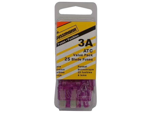 (VP/ATC-3-RP) Violet 3 Amp 32V Fast Acting ATC Blade Fuse, (Pack of 25)