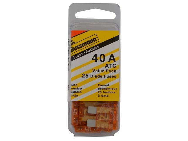 (VP/ATC-40-RP) Orange 40 Amp 32V Fast Acting ATC Blade Fuse, (Pack of 25)