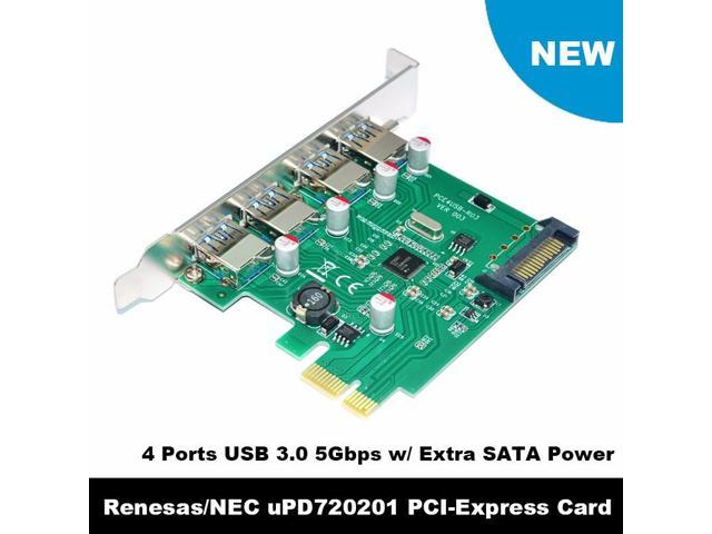 Backwards Compatible with USB 2.0 and USB 1.1 Devices High 5Gbps PCIE to USB 3.0 Expansion Card 4 USB 3.0 Ports Zopsc PCIE to USB 3.0 Expansion Card PCIE to USB 3.0 Adapter