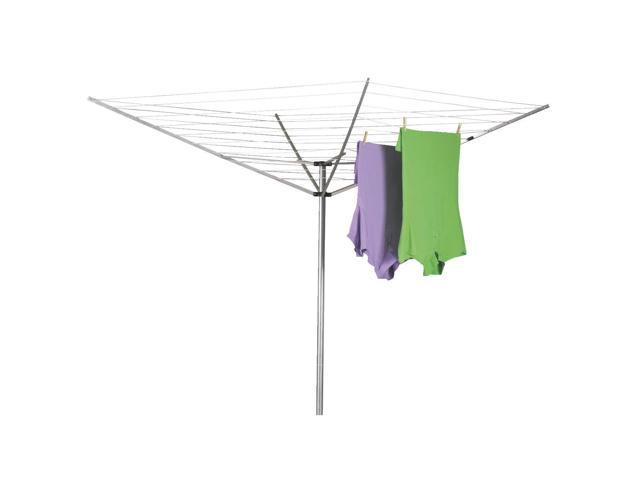 Household Essentials 1600 Outdoor Umbrella Dryer - Aluminum Arms, 2pc pole, 12-line 165 ft. Drying Space photo