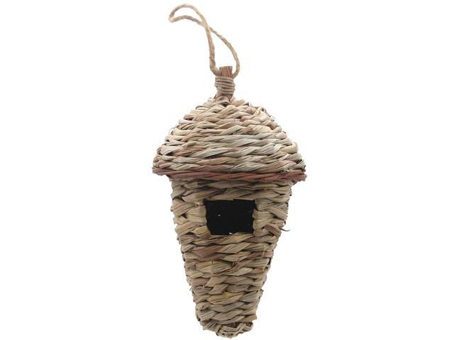 Bird House, Winter Bird House For Outside Hanging, Grass Hand Woven Bird Nest House, Natural Bird Hut Outdoor, Birdhouse For Kids, So (Electronics) photo