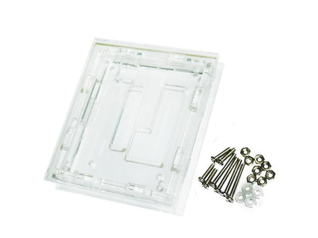 Hot 48 * 40mm 6pcs DC 12V Waterproof Case Acrylic Box + 8pcs Screws Nuts With 4pcs Washer New photo