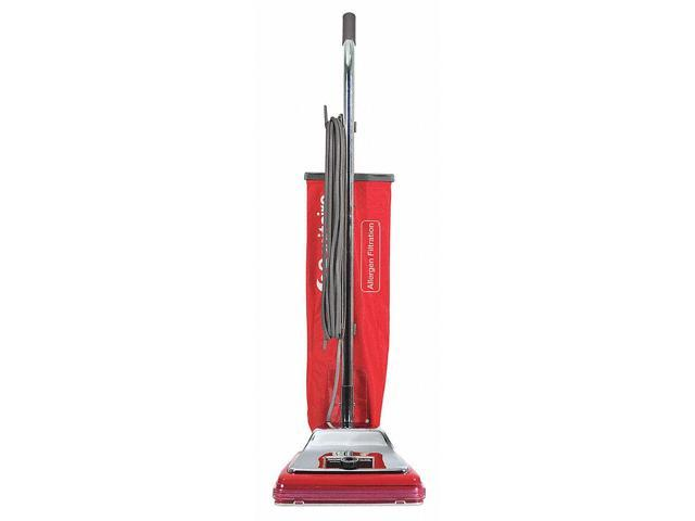 Electrolux Sanitaire SC888K Heavy-Duty Commercial Upright Vacuum- 17.5 lbs- Chrome/Red photo