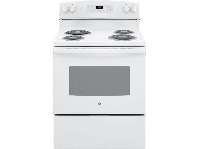 G.E. JB256DMWW 5.0 Cu. Ft. White Freestanding Electric Range photo