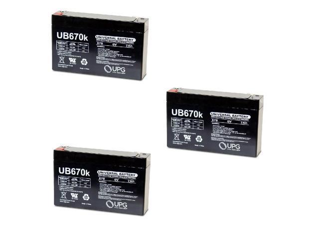 NEW 3PK UPG UB670 6V 7AH SLA Battery 4 Agilent Technologies 8040B FETAL MONITOR (993297754803 Electronics Power) photo