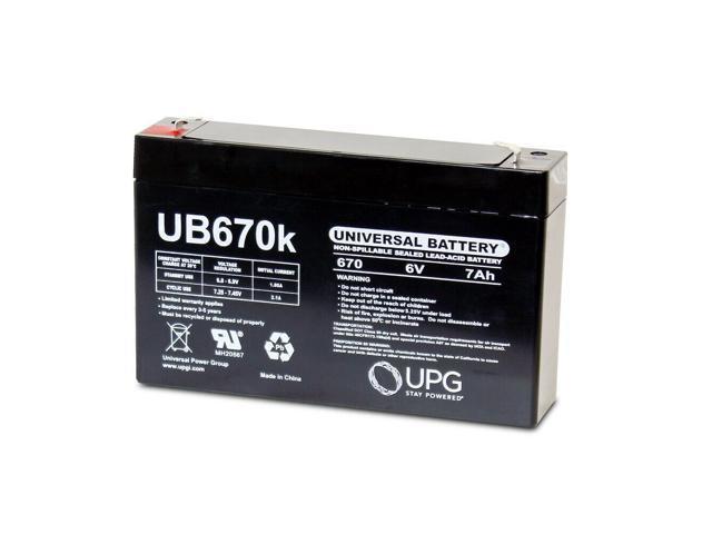 NEW UPG UB670 6V 7AH SLA Battery for Agilent Technologies 8040B FETAL MONITOR (993296824057 Electronics Power) photo