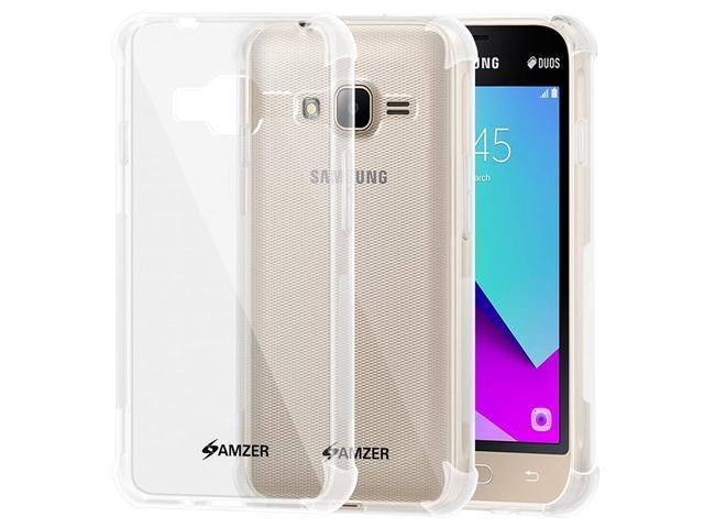 AMZER Slim TPU X Protection Case with Shock Dissipating Technology Skin for Samsung Galaxy J1 Mini j105b - Crystal Clear (993357860888 Electronics Communications Telephony Mobile Phone Cases) photo