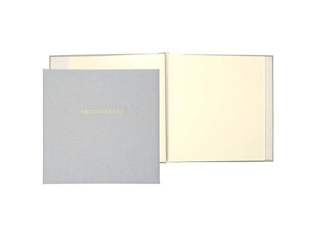 C.R. Gibson Gray 'Photographs' 1-Up Magnetic Memory Book and Photo Album, 16 Pages, 13.6' W x 13' H photo