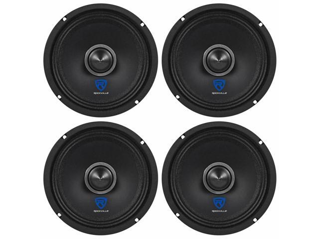 (4) Rockville RXM64 6.5' 600w 4 Ohm Mid-Range Drivers Car Speakers, Mid-Bass