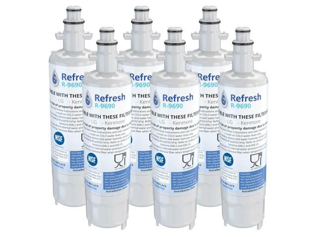 Refresh Replacement Water Filter - Fits Kenmore 74023 Refrigerators (6 Pack) photo