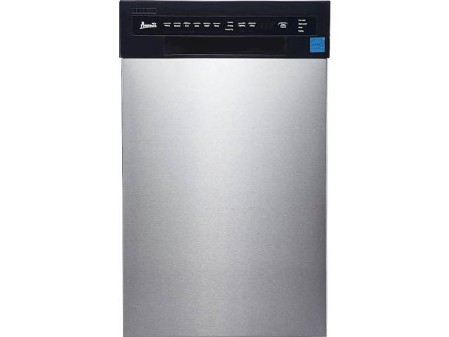 Avanti - 18' Front Control Built-In Dishwasher with Stainless Steel Tub - Stainless steel photo