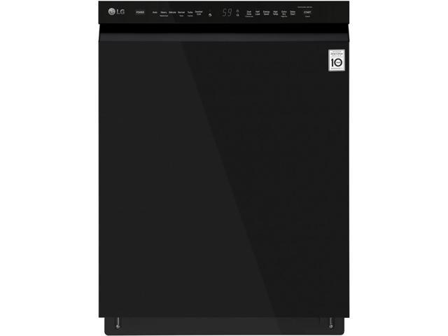 LG - 24' Front Control Built-In Dishwasher with QuadWash and Stainless Steel Tub - Black photo