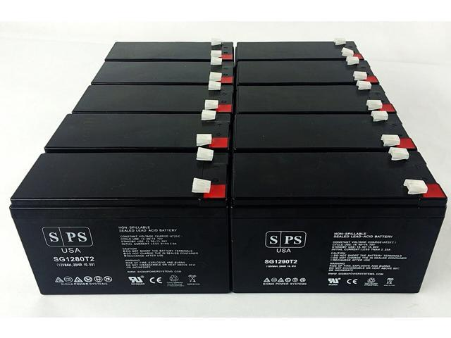 SPS Brand 12V 9Ah Replacement Battery for Maruson Technology Power UPS-900A (Terminal T2) (10 Pack) (681827532266 Vehicles & Parts Motor Vehicle Parts) photo