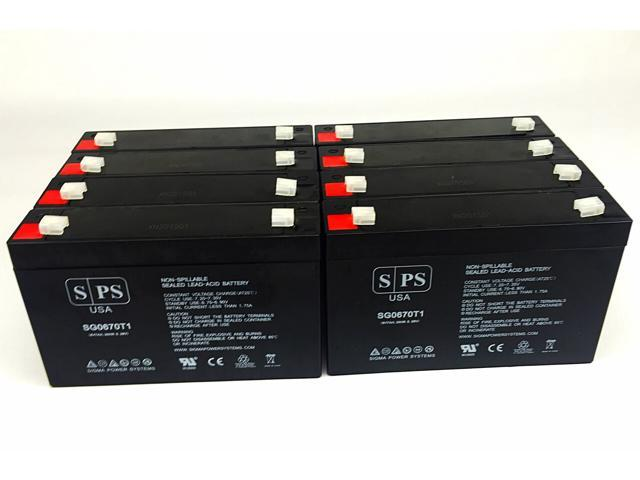 SPS Brand 6V 7 Ah Replacement Battery for Agilent Technologies 78333A MONITOR (8 Pack) (680138364603 Electronics Power) photo