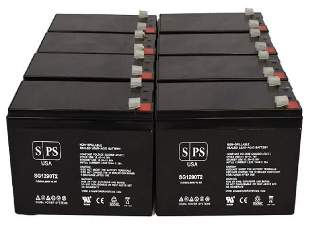 SPS Brand 12V 9Ah Replacement Battery for Maruson Technology Altima UPS ALT-10K 220V 230V 240V (Terminal T2) (8 Pack) (681827519267 Vehicles & Parts Motor Vehicle Parts) photo