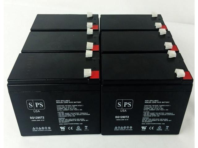 SPS Brand 12V 9Ah Replacement Battery for Maruson Technology Power Pro RT PRO-1750ART (Terminal T2) (6 Pack) (681827506366 Vehicles & Parts Motor Vehicle Parts) photo