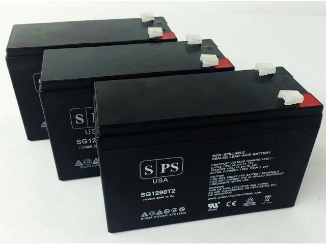 SPS Brand 12V 9Ah Replacement Battery for Maruson Technology Power NET-2000 ART (Terminal T2) (3 Pack) (681827480468 Vehicles & Parts Motor Vehicle Parts) photo