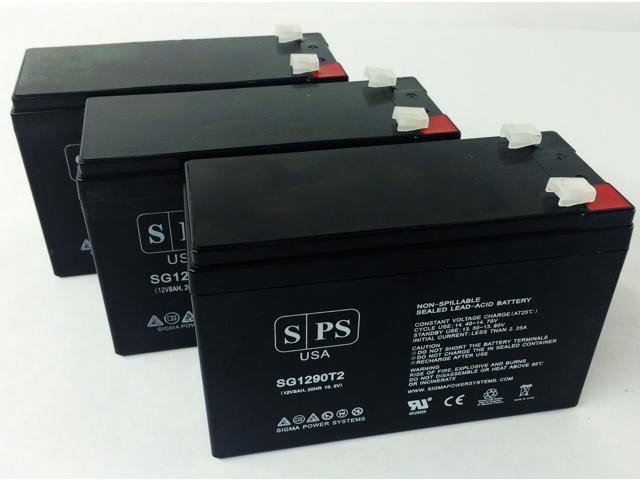 SPS Brand 12V 9Ah Replacement Battery for Maruson Technology Power Office Plus POF-900USA (Terminal T2) (3 Pack) (681827480475 Vehicles & Parts Motor Vehicle Parts) photo