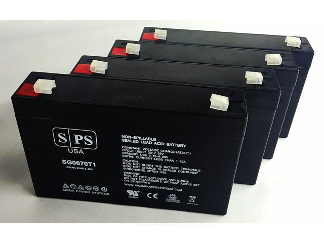 SPS Brand 6V 7 Ah Replacement Battery for Agilent Technologies 8040B FETAL MONITOR (4 Pack) (680138357131 Electronics Power) photo