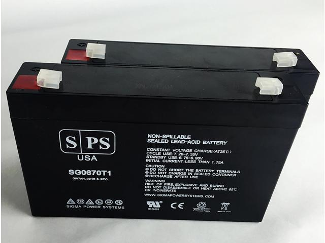 SPS Brand 6V 7 Ah Replacement Battery for Agilent Technologies 78333A MONITOR (2 Pack) (680138349648 Electronics Power) photo