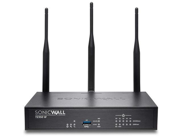 SonicWall TZ350 Network Security/Firewall Appliance 5 Port 10/100/1000Base-T Gigabit Ethernet Wireless LAN IEEE 802.11ac Model 02-SSC-4465 photo