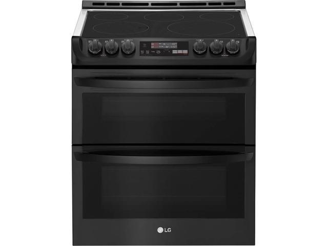 LG LTE4815BM 7.3 Cu. Ft. Matte Black Stainless Double Oven Electric Range photo