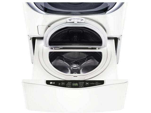 LG WD100CW 1.0 Cu. Ft. White SideKick Pedestal Washer photo