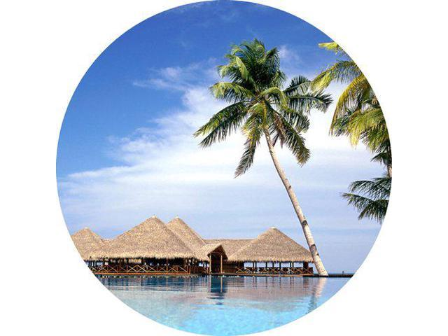 Scenic Beach Ocean Resort Round THICK Mousepad Mouse Pad Great Gift Idea (Electronics Computer Components) photo