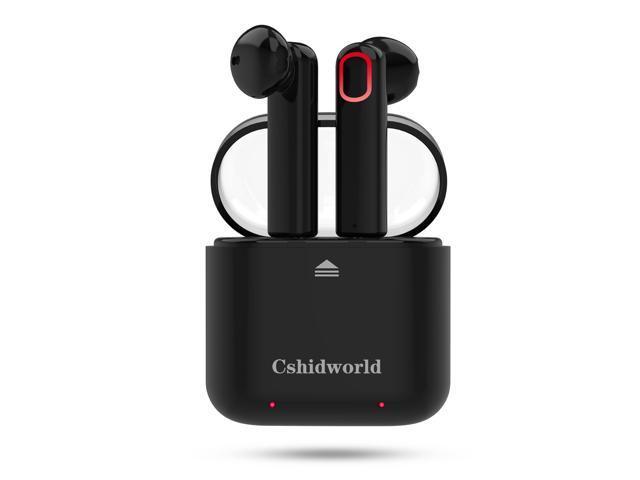 Wireless Earbuds, Cshidworld Dual Bluetooth Headphones V4.2 True Mini In-Ear Headset Stereo Sports Earphone Sweatproof with Charging Box Noise